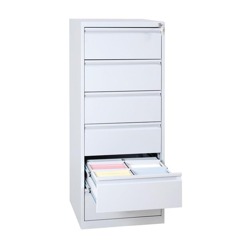 Stabiler HT-Karteikartenschrank mit 6 Schubladen für DIN A5 Karteikarten, Ablageschank, Archivschrank, aus Stahl