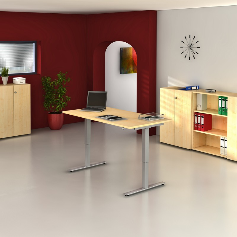 Steh-Sitz-Arbeitsplatz XMST - Büromöbel direkt vom Hersteller